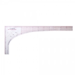 Läbipaistev plast-nurklekaal, Clear View Metric Dressmakers Square Ruler, 26cm × 60cm, Duroedge KR-360S