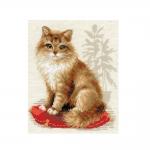 Tikkimiskomplekt Kass punasel padjal Art.1525 firmalt Riolis
