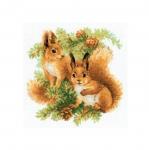Tikkimiskomplekt Oravad käbidega Art.1491 firmalt Riolis