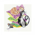 Tikkimiskomplekt Kassid ja hiired Art.1466 firmalt Riolis
