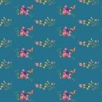 Puuvillane trikookangas lillede ja liblikatega Art.3805