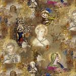 Pühaliku mustriga puuvillane kangas Art. BB/91075-01