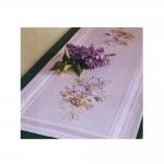 Poollinane õrna lillekimbuga tikkimiskomplekt-linik 40cm x 100cm, Duftin, seeriast Mary Ann, Art. 7017