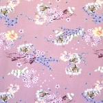Kirsiõitega veniv puuvillasegu kangas, 150cm, 007548