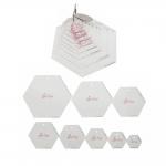 Šabloon-joonlaudade komplekt, kuusnurgad, hexagon, 8 tk, SewEasy NL4160