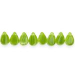 Tilgakujuline lapik ülalt auguga piimjas 12,5x8mm klaashelmes (Preciosa)