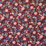 Lillemustriga puuvillane kangas, 145cm 129.809