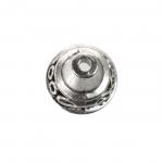 Koonusekujuline, reljeefse mustriga pärlikübar / Bead Cup / 13x12mm