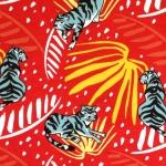 Tiigritega veniv puuvillasegu kangas, 145cm, KC1368