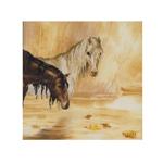Tikkimiskomplekt hobustega vihmas / Riolis (Venemaa)  PT-0003