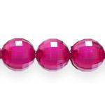 Pärl-pärlis tahulised ümarad klaasjad akrüülhelmed 16mm