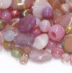 Pärlisegu vanaroosakatest erikujulistest pärlitest 4-18mm, 100/50g pakk