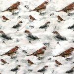 Linnukestega, veniv puuvillasegu kangas, 150cm, 27015-4001