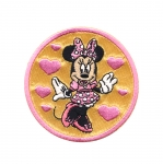 Triigitav Aplikatsioon; Minnie hiir südamega 6,7cm