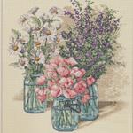 Tikkimiskomplekt Lihtsad lilled
