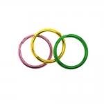 Värviline topelt metallrõngas, võtmerõngas / Split Rings, 20mm
