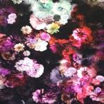 Maalilise lillemustriga veniv viskooskangas, 150cm, 20910