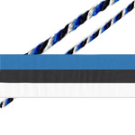 Blue-Black-White Ribbon & chord