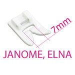 7mm pistelaiusega JANOME õmblusmasinate tallad ja tarvikud / JANOME & ELNA 7mm Stitch Width Sewing Machine Feet & Equipment