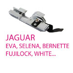 JAGUAR, EVA, SELENA, BERNETTE, FUJILOCK overlokkide tallad / Feet for overlock/serger Machines