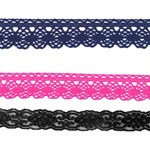 Polyester, Acrylic, Viscose (Rayon) Laces