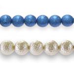 Struktuursed klaashelmed / Crinkle Glass Beads