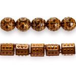 Antiikse pinnatöötlusega / Antique Style Plastic Beads