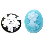 Cameo Resin Cabochon
