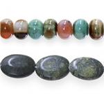 Бусины из камней и полыдрагоценных камней