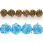 Tekstiilkattega helmed / Textile Covered Beads