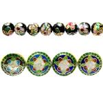 Cloisonne metallhelmed / Cloisonne Beads