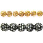 Kristallidega metallhelmed / Rhinestone Beads