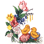 Tikkimiskomplektid Lihavõttepühadeks / Easter Embroidery Kits
