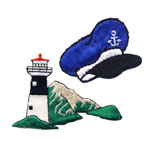 Laevad, ankrud, majakad, merestuff / Ships, Anchors, Lighthouses & Sailor stuff Patches